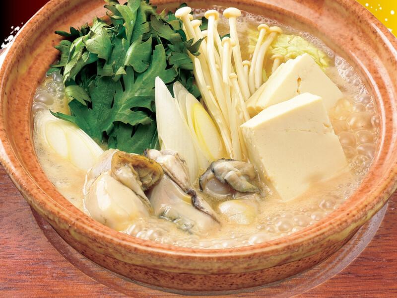広島県産かき味噌鍋の料理写真